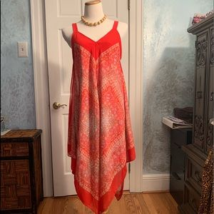 Handkerchief dress, ready for beach/happy hour!